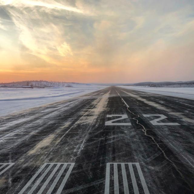 """Arctic Runway"" stock image"