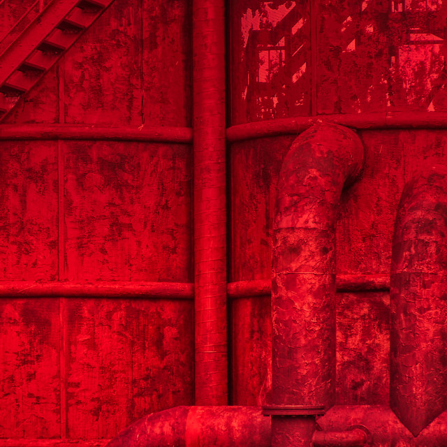 """""""Red Industrie"""" stock image"""