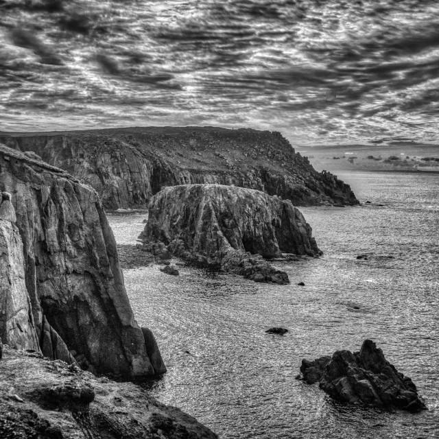 """Cornwall cliffs"" stock image"