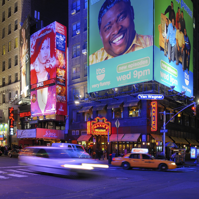 """Big smile in Times Square"" stock image"