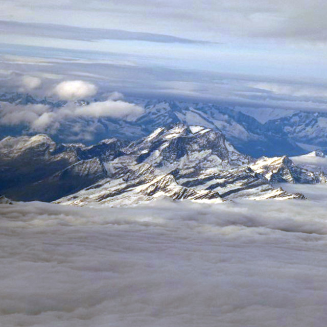 """Aerial view of Italian Alps"" stock image"
