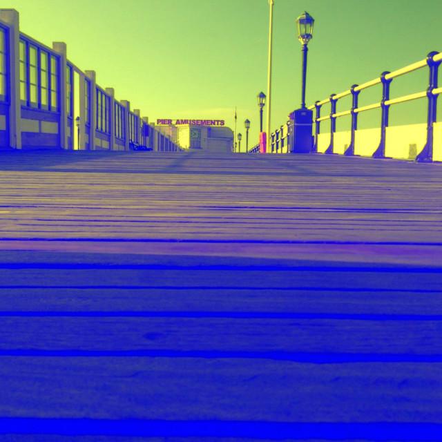 """Blue pier"" stock image"