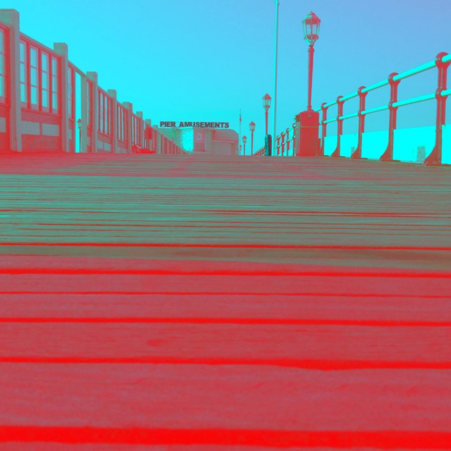 """Red pier"" stock image"