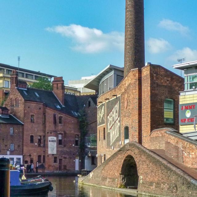 """Gas Street Basin, Birmingham, UK"" stock image"