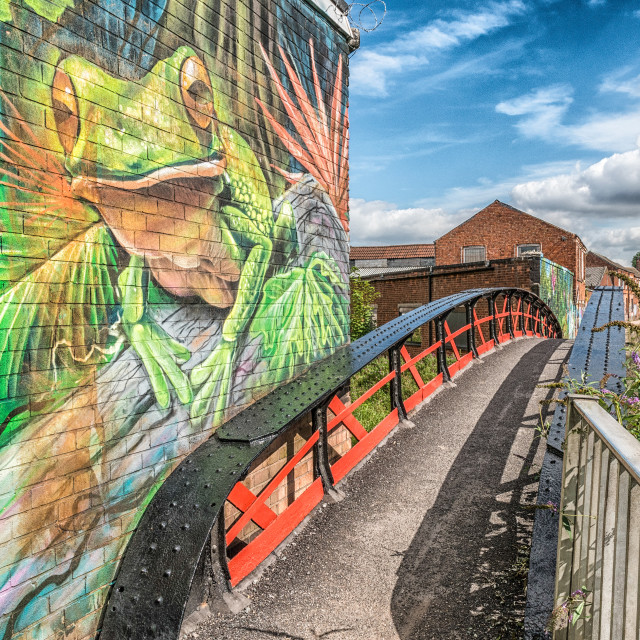 """Frog Island, Leicester, UK"" stock image"