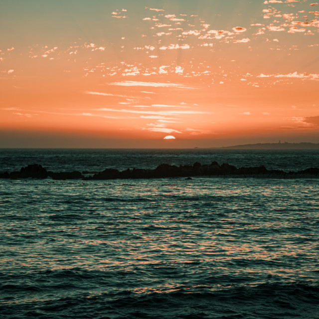 """Sunset at Blouberg Beach II"" stock image"
