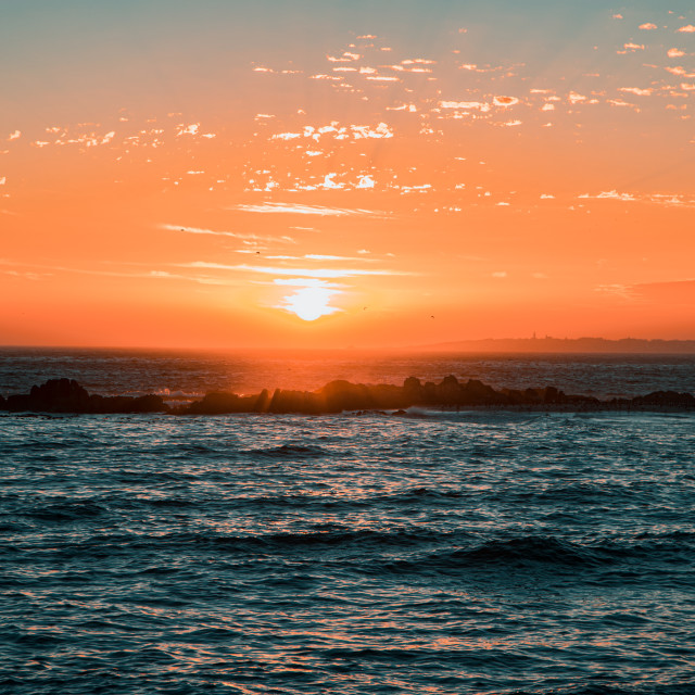 """Sunset at Blouberg Beach I"" stock image"
