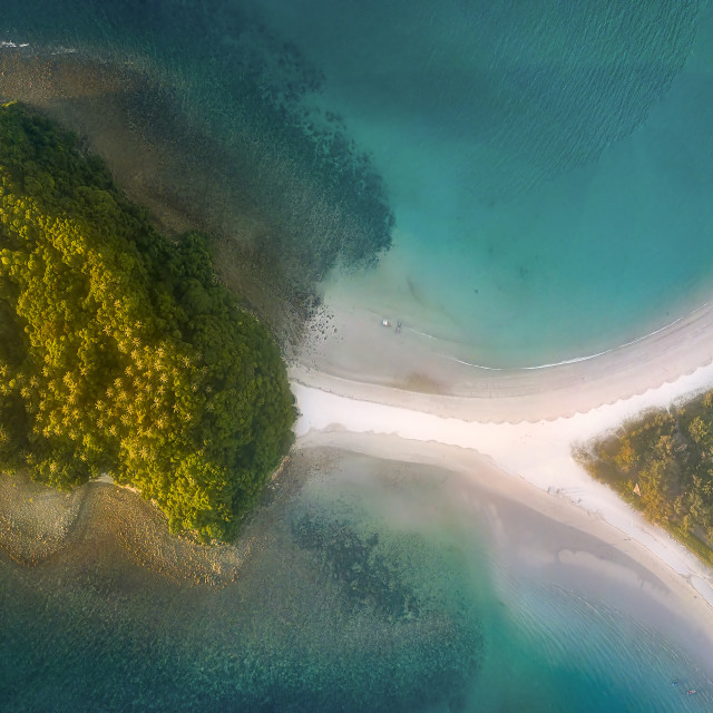 """""""Island with two beaches 01"""" stock image"""