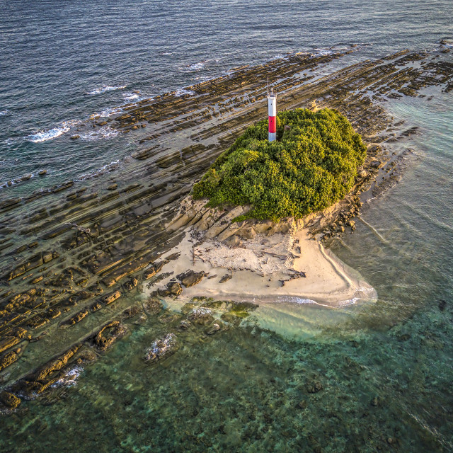 """""""Lighthouse off the Tip of Borneo 02"""" stock image"""