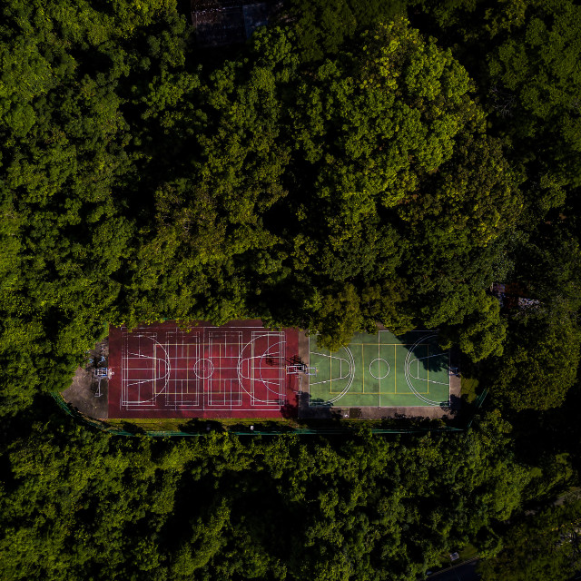 """""""Green Basketball Courts"""" stock image"""
