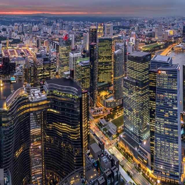 """Singapore Cityscape Panorama 01"" stock image"
