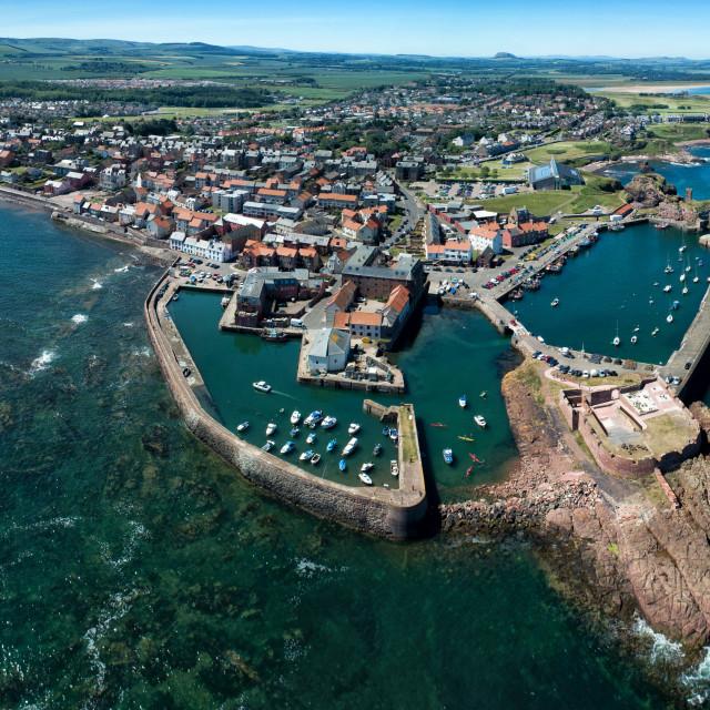 """Dunbar Harbour, East Lothian"" stock image"
