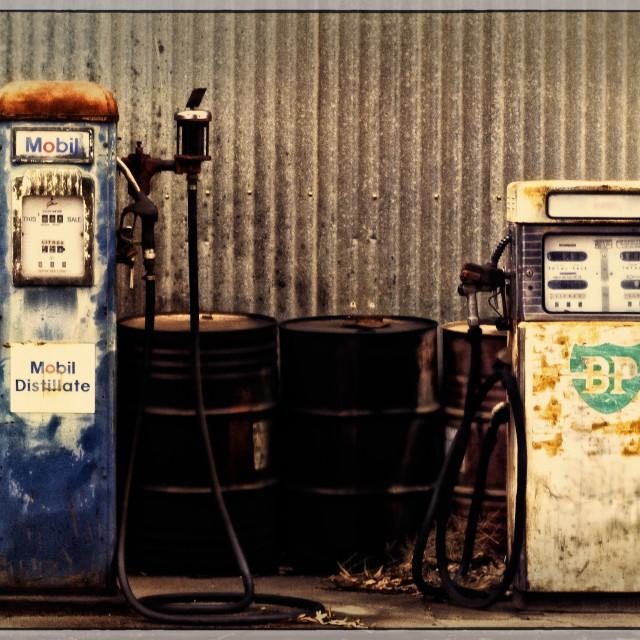"""Gas Pumps"" stock image"