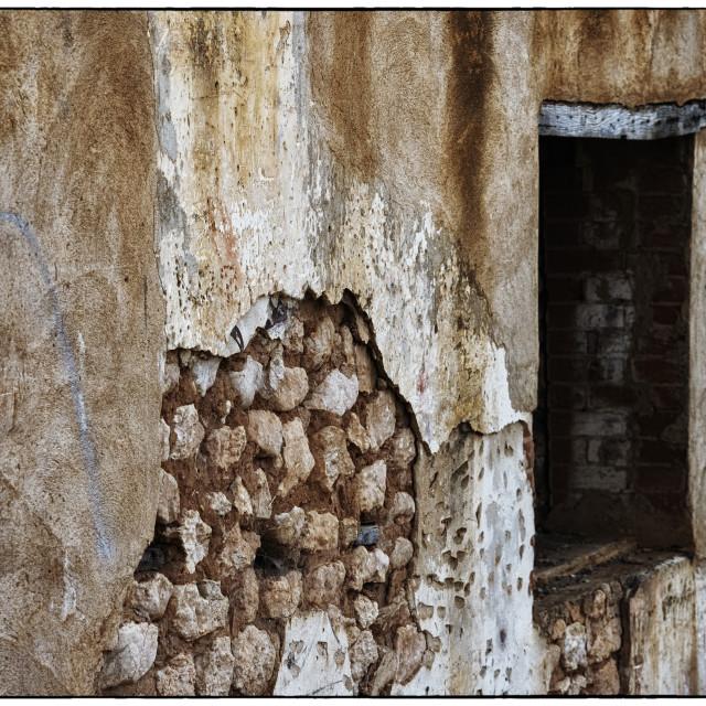 """""""Peeling Wall"""" stock image"""
