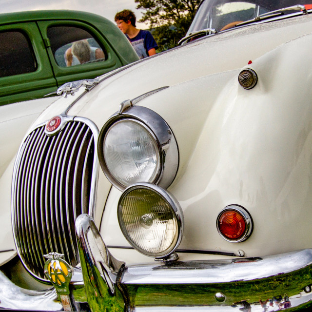 """Jaguar 60s Saloon Car on display at the 2012 Vintage Transport Extravaganza"" stock image"