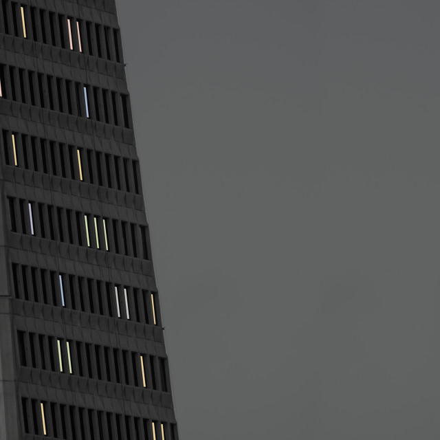 """""""High Rise Building At Night"""" stock image"""