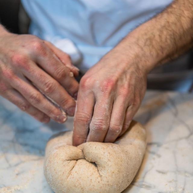 """Making sourdough bread"" stock image"