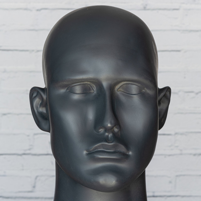 """""""Abstract image of human face, portrait of mannequin head"""" stock image"""
