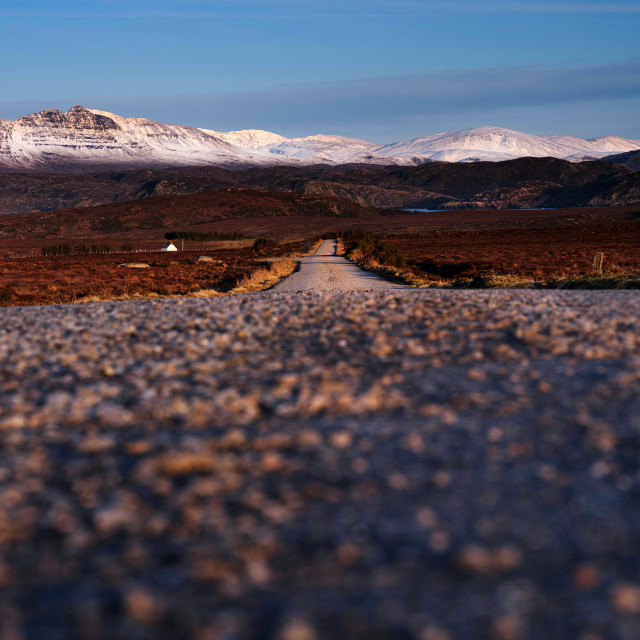 """The Road to Achnahaird Bay"" stock image"