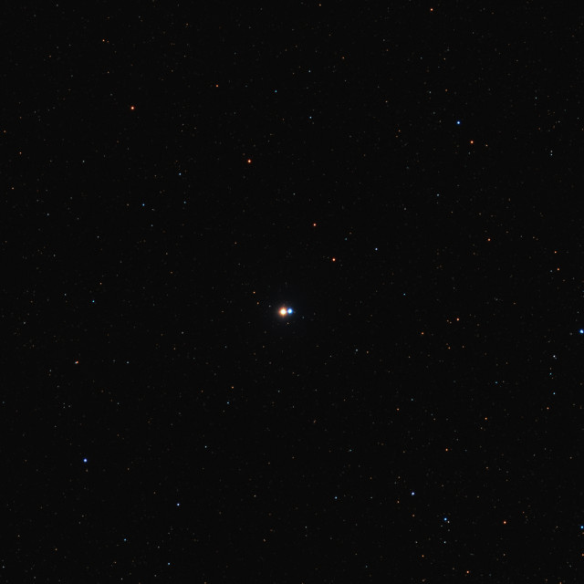 """""""The Albireo system, double star in the constellation of Cygnus"""" stock image"""