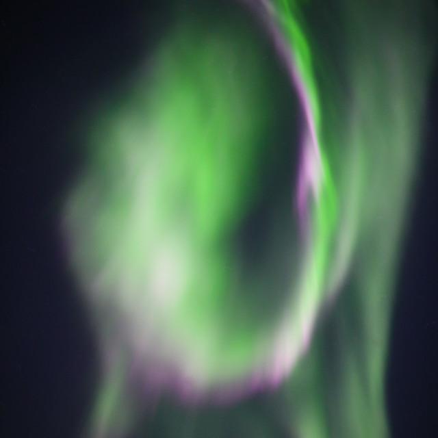 """Aurora Overhead"" stock image"