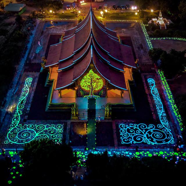 """""""Wat Sirindhorn Wararam 01"""" stock image"""