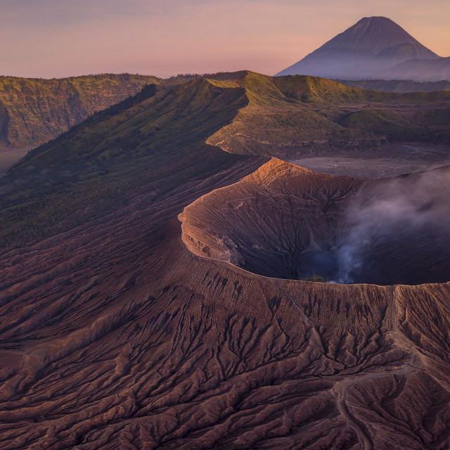 """Mount Bromo at Dusk"" stock image"