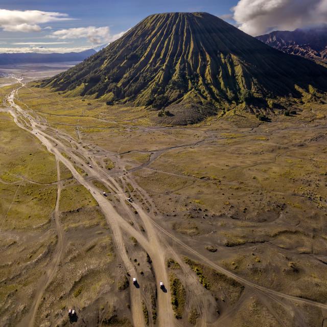"""""""Mount Batok 01"""" stock image"""