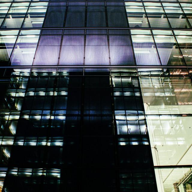 """Reflection at night"" stock image"