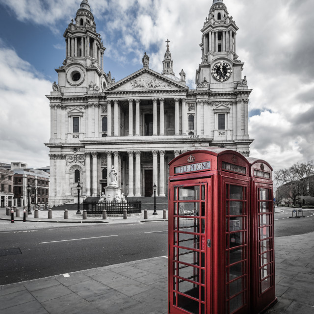 """St. Paul's On A Beautiful Day."" stock image"