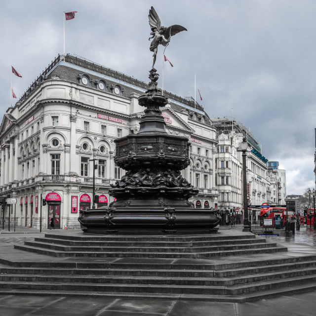 """Lonely Anteros In Piccadilly Circus."" stock image"