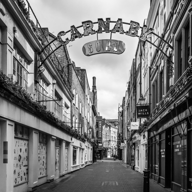 """Carnaby St. In Black And White."" stock image"