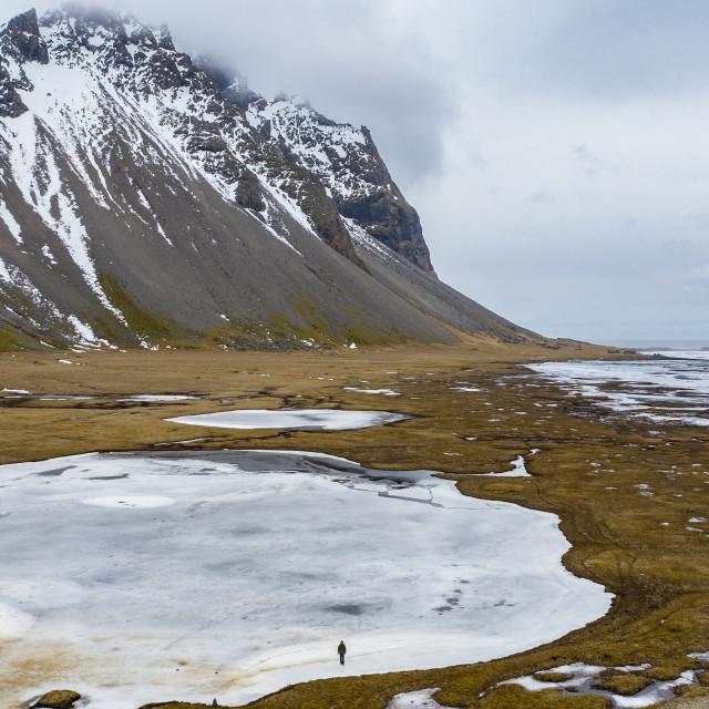 """STOKKSNES, WILD BEACH ICELAND"" stock image"