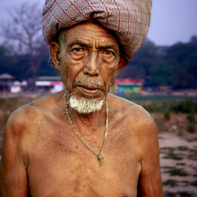 """Fisherman on the Taungthaman Lake"" stock image"