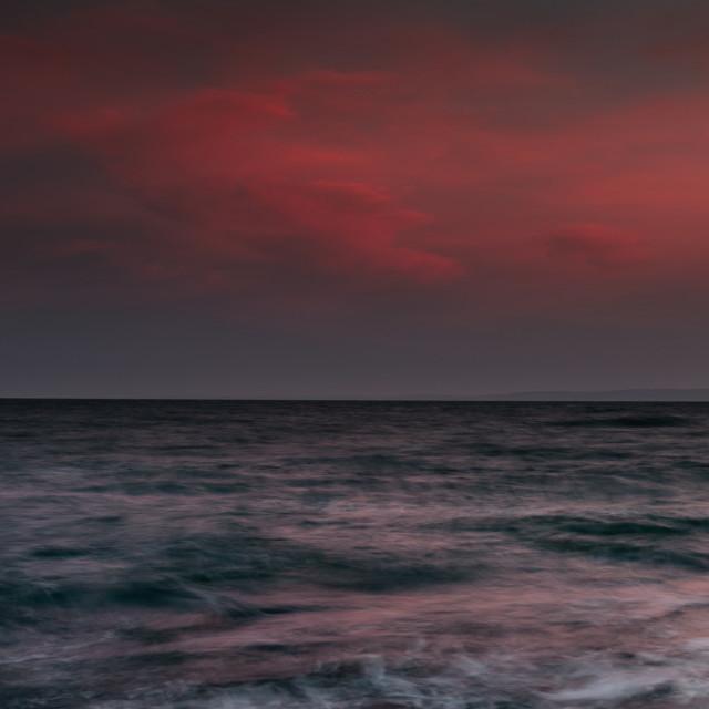 """Pittenweem sunset"" stock image"