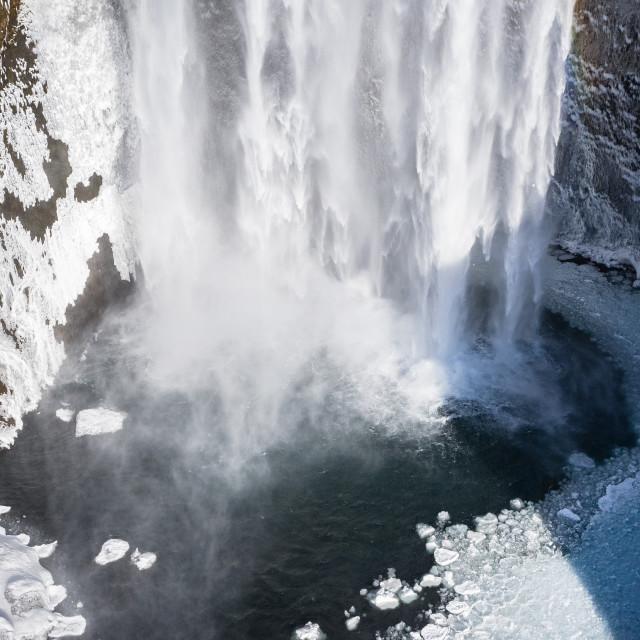 """Skogafoss waterfall, Iceland."" stock image"