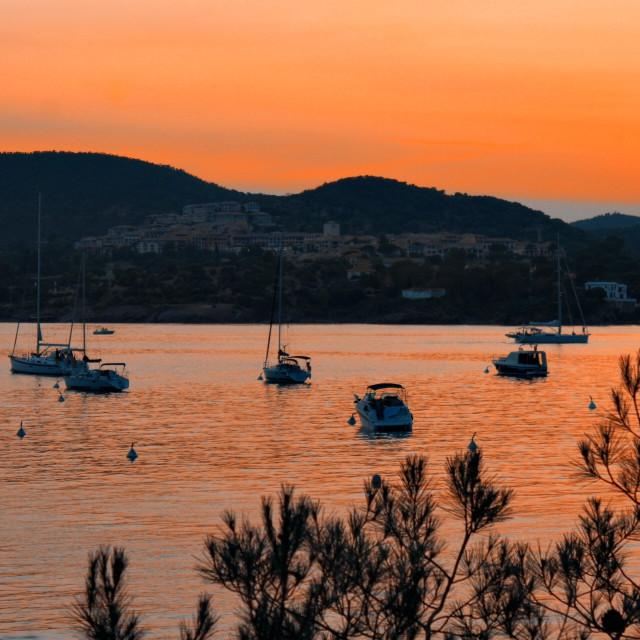 """Sunset Cote d'Azur"" stock image"
