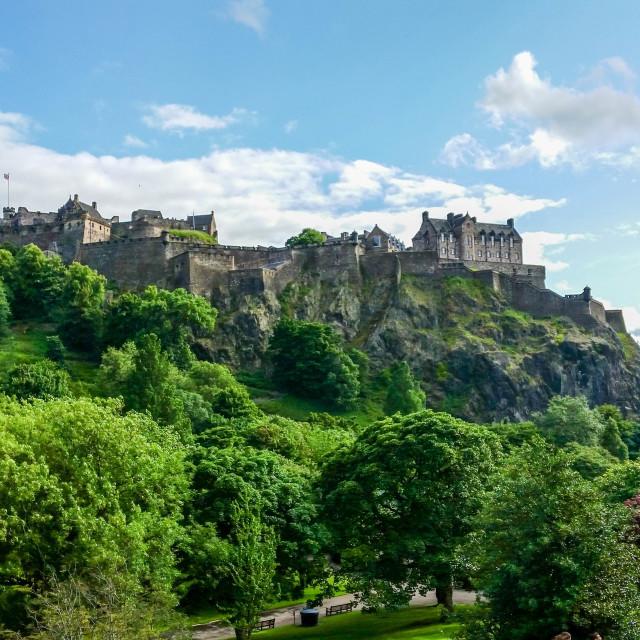"""Edinburgh Castle, Scotland."" stock image"