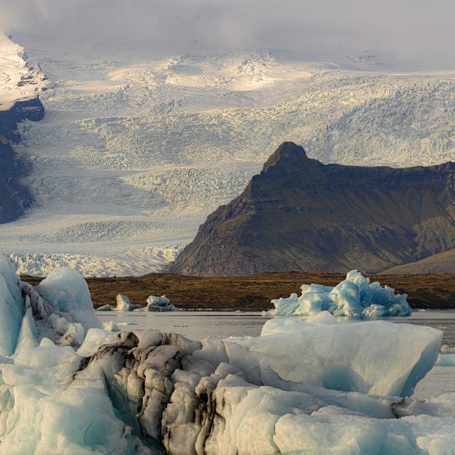"""Glacier Lagoon"" stock image"