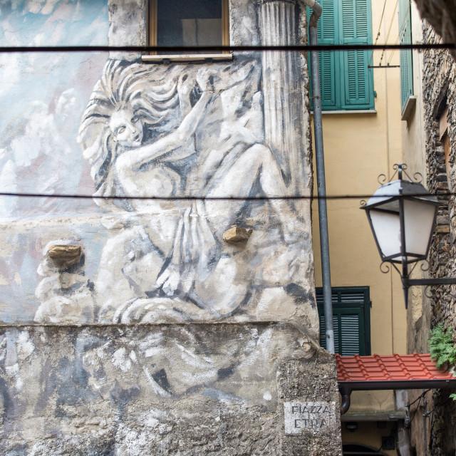 """Badalucco House Mural"" stock image"