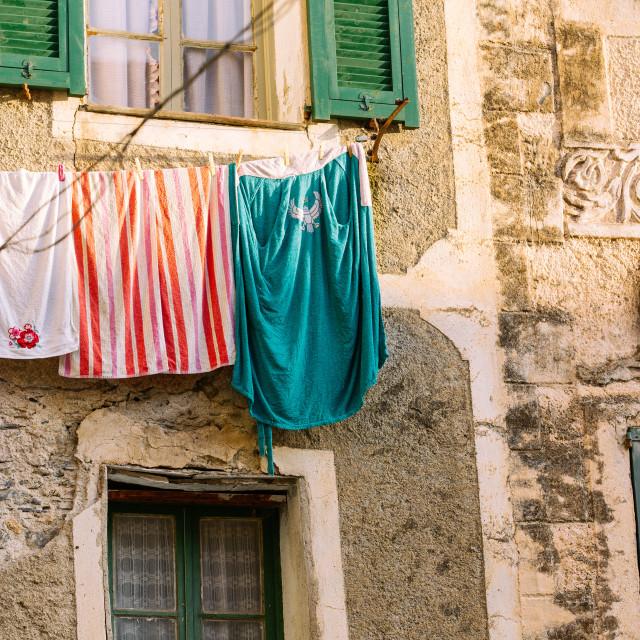 """""""Hanging Laundry"""" stock image"""