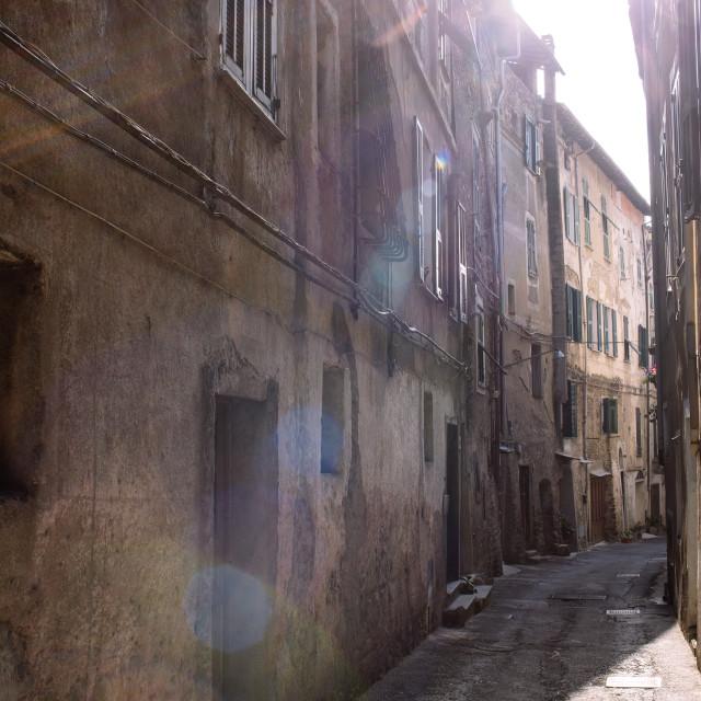 """""""Taggia Street"""" stock image"""