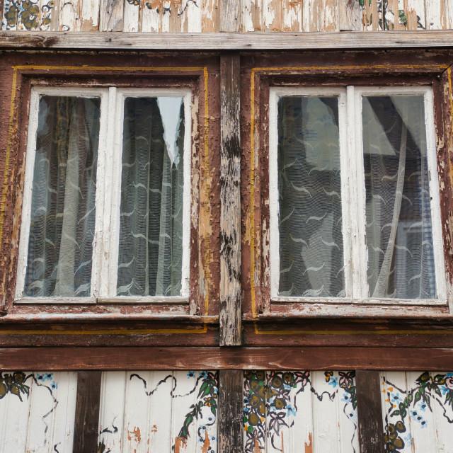 """Old windows"" stock image"