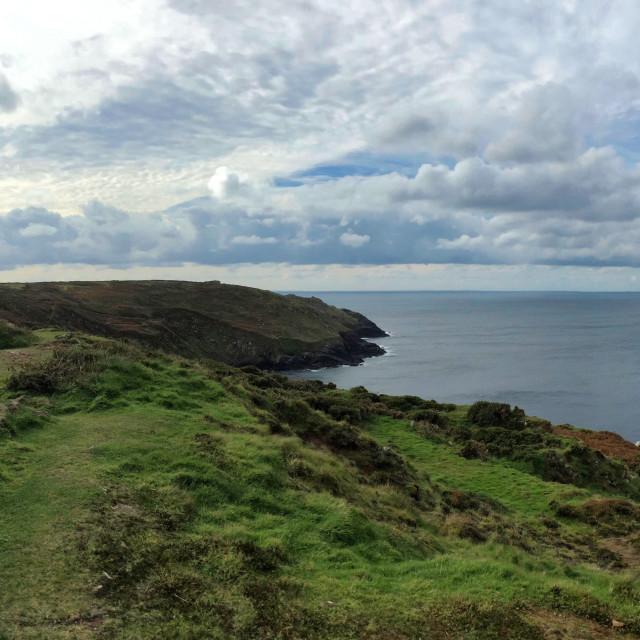 """Cornish Mine at the sea"" stock image"
