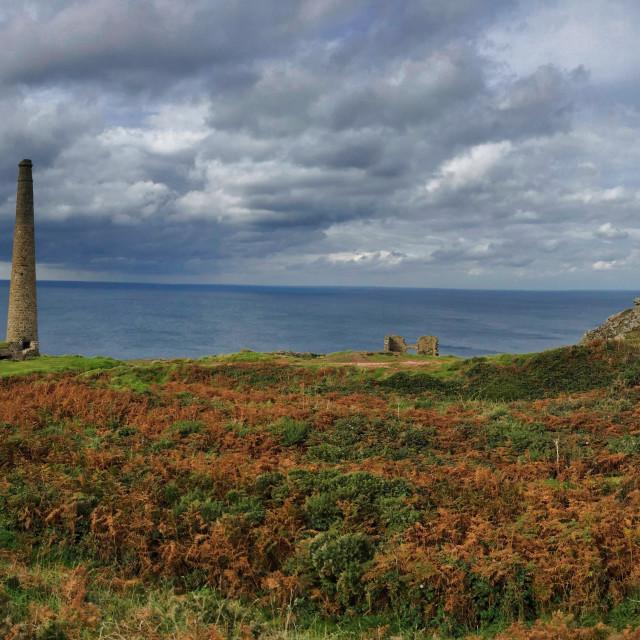 """Cornwall Levant Old Mine"" stock image"
