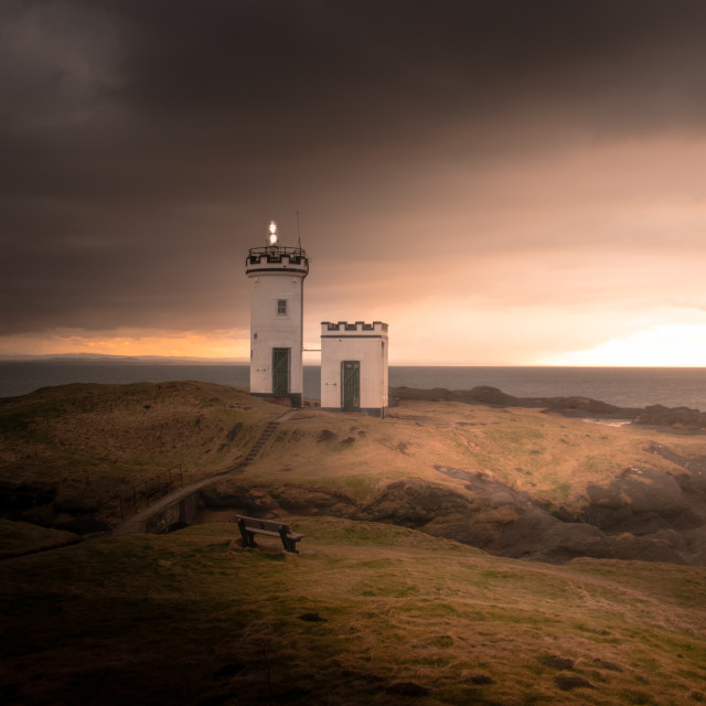 """Elie Ness Lighthouse"" stock image"