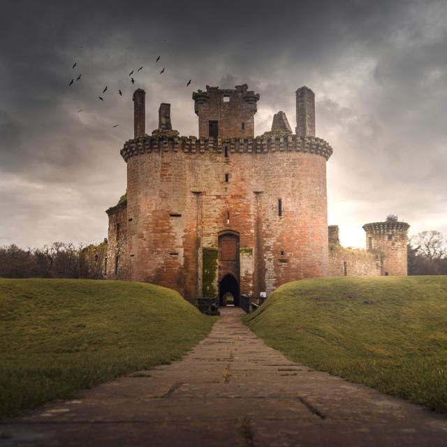 """""""Caerlaverock Castle"""" stock image"""