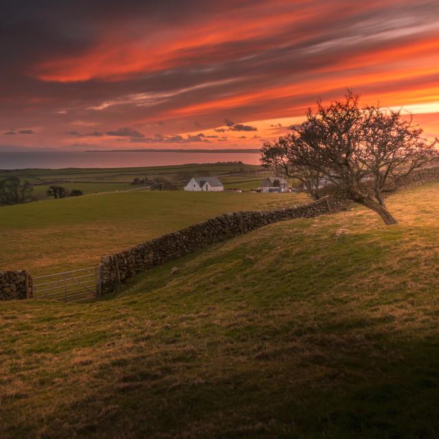 """South of Scotland Sunset"" stock image"