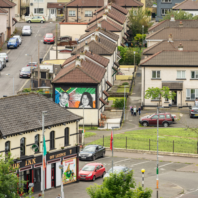 """Political Mural in a Londonderry / Derry Housing Estate"" stock image"