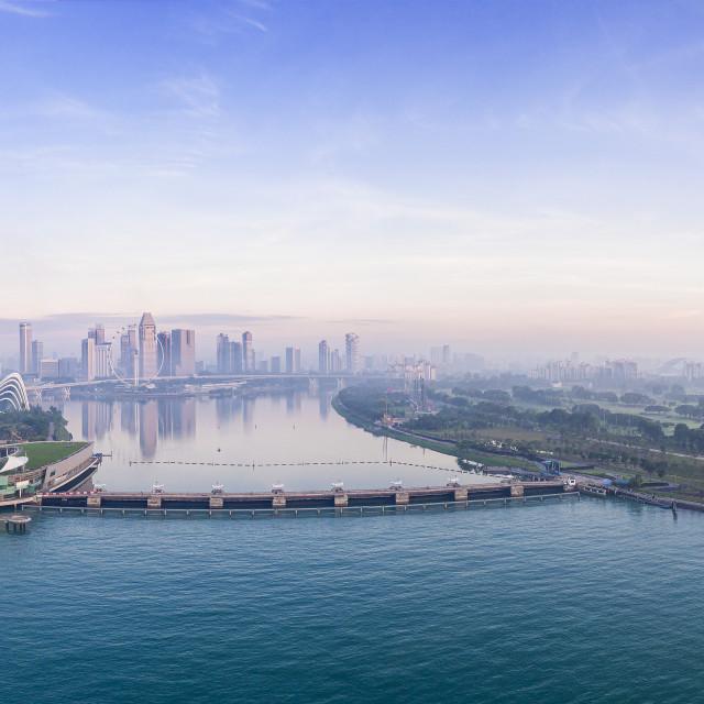 """""""Singapore Panorama 02"""" stock image"""